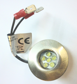 SCS LED INSET NON SWITCHED LED BRUSHED CHROME TINY 0.06W 12V INDOOR